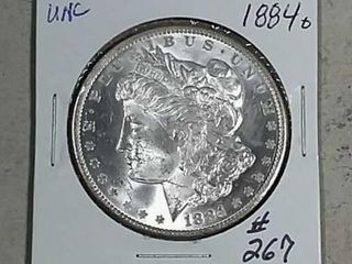1884 O Morgan Dollar Unc