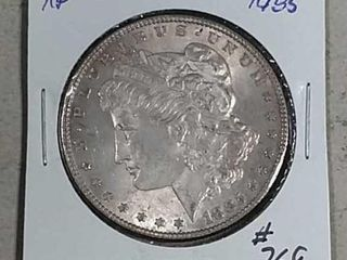1885 Morgan Dollar XF