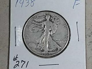 1938 Walking liberty Half Dollar F