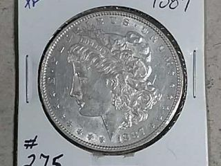 1887 Morgan Dollar XF