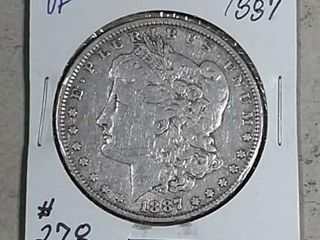 1887 Morgan Dollar VF