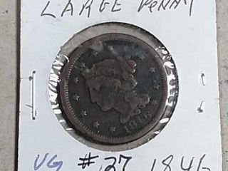 1846 Braided Hair large Cent VG