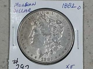1882 O Morgan Dollar XF