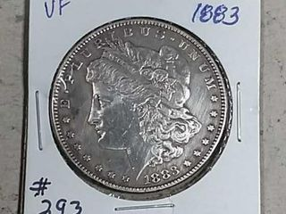 1883 Morgan Dollar VF details cleaned