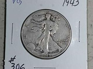 1943 Walking liberty Half Dollar VG