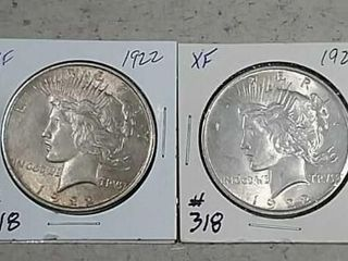 1922   1922 Peace Dollars XF