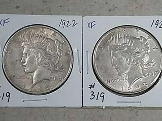 1922   1923 D Peace Dollars XF