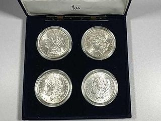 4 New Orleans Mint Morgan Dollars BU