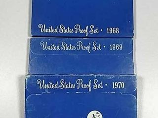 1968  1969   1970 US  Mint Proof sets