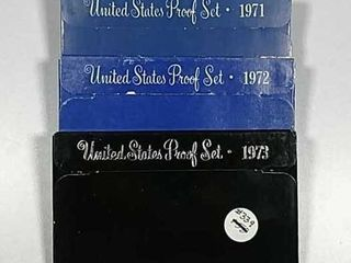 1971  1972   1973 US  Mint Proof sets