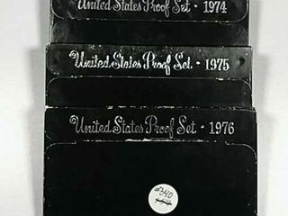 1974  1975   1976 US  Mint Proof sets