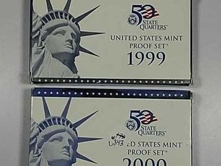 1999   2000 US  Mint Proof sets