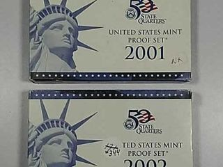 2001   2002 US  Mint Proof sets