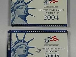 2004   2005 US  Mint Proof sets