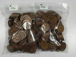300 lincoln  Wheat  Cents assorted dates