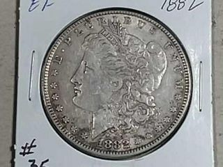 1882 Morgan Dollar EF