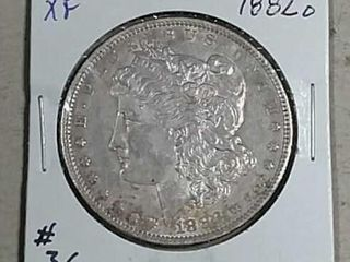 1882 O Morgan Dollar XF details cleaned