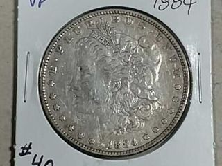 1884 Morgan Dollar VF