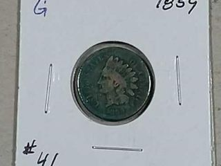 1859 Indian Head Cent G porous
