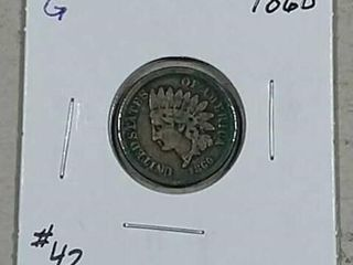 1860 Indian Head Cent G