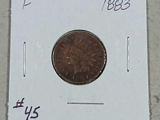 1883 Indian Head Cent F porous