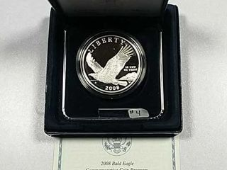 2008 P Bald Eagle Comm  Proof Silver Dollar