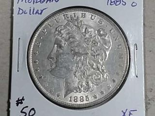 1885 O Morgan Dollar XF