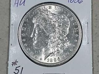 1886 Morgan Dollar Unc  dipped