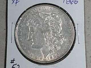 1886 Morgan Dollar XF