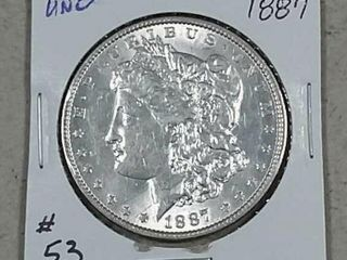 1887 Morgan Dollar Unc
