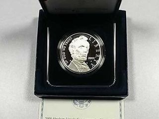 2009 P Abraham lincoln Comm  Proof Silver Dollar