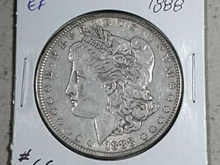 1888 Morgan Dollar EF