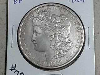 1889 Morgan Dollar EF details cleaned