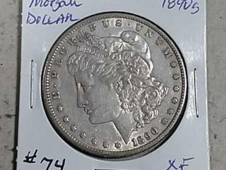 1890 S Morgan Dollar XF