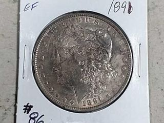 1891 Morgan Dollar EF
