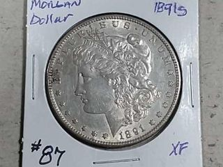 1891 S Morgan Dollar XF