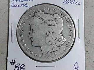 1891 CC Morgan Dollar G