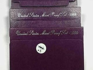1987  1988   1989 US  Mint Proof sets