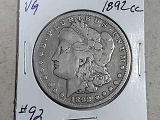 1892 CC Morgan Dollar VG
