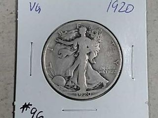 1920 Walking liberty Half Dollar VG