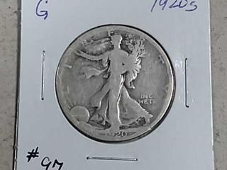 1920 S Walking liberty Half Dollar G