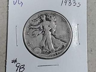 1933 S Walking liberty Half Dollar VG