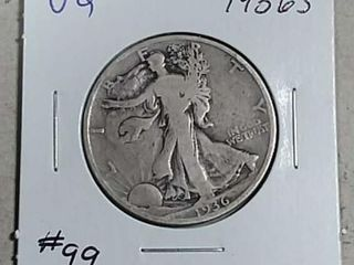 1936 S Walking liberty Half Dollar VG