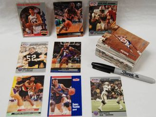 Collection of Football and Basketball Cards See Photos