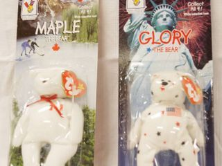 Collectible Ty  McDonald s Happy Meal  Beanie Babies  MAPlE  the Bear  and GlORY  the Bear  Still in Original Packaging
