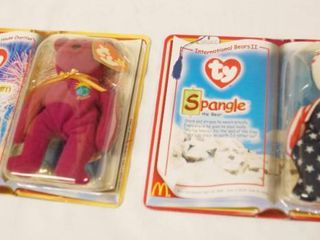 lot of 2  Happy Meal  Collectible Ty Original Beanie Babies   Milleumim and Spangle  in Original Packaging