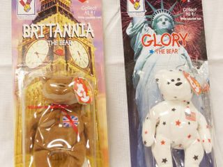 lot of 2  Happy Meal  Collectible Ty Original Beanie Babies    Britanna and Glory  in Original Packaging