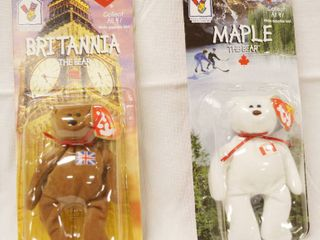 lot of 2  Happy Meal  Collectible Ty Original Beanie Babies    Britannia and Maple  in Original Packaging
