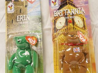 lot of 2  Happy Meal  Collectible Ty Original Beanie Babies    Erin and Britannia   in Original Packaging