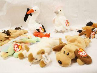 lot of 7 Collectible Original Ty Beanie Babies  Derby  Stilts  KuKu  Chip  Sammy  Snip and Bones